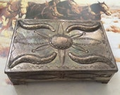 Reserved: Vintage Early Native American Silver Box ca.1910-1920