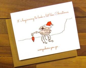Funny Christmas Card - Star Wars Christmas Card - Funny Star Wars Card Christmas - Geek Christmas Card - Star Wars Holiday