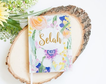 Selah Journal, Notebook, Christian Jounal, Devotional, Watercolor Floral -  Selah