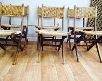 Mid Century Modern Folding Chairs