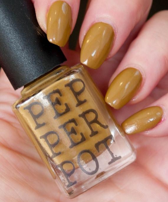 Acid Yellow Nail Polish: Mustard Yellow Nail Polish 5 Free Bombshell By PepperPotPolish