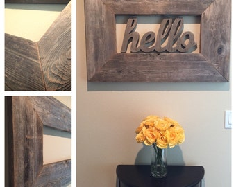 Reclaimed Cedar Wood Frame