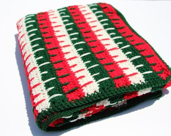 Holiday Afghan, Crochet Afghan, Christmas Afghan, Afghan, Crochet Throw, Crochet Blanket, Christmas, Throw Blanket, Ready to Ship