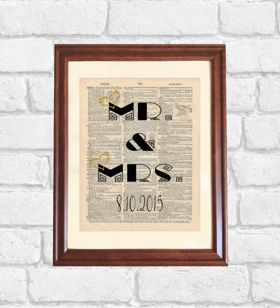 Mr Amp Mrs Dictionary Print Wedding Gift By OldBookSmith On Etsy