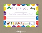 Hungry Caterpillar Birthday Thank You Card / The Very Hungry Caterpillar Thank You
