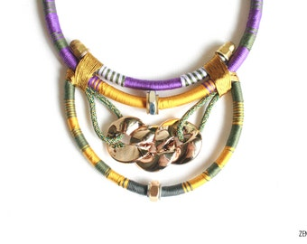 FELA by zena.dyete statement thread and hardware necklace neckpiece african inspired afrofuturistic tribal thread bolt