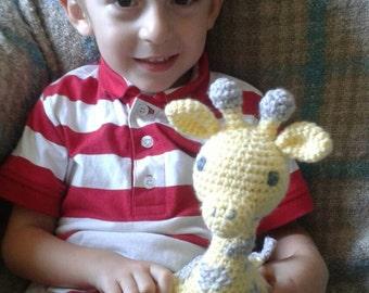 crochet giraffe plush toy - choose your colors