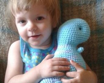 crochet t-rex plush toy - choose your colors