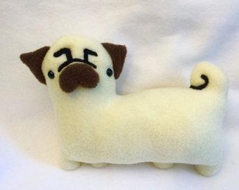 Handmade Plush Pug- XL