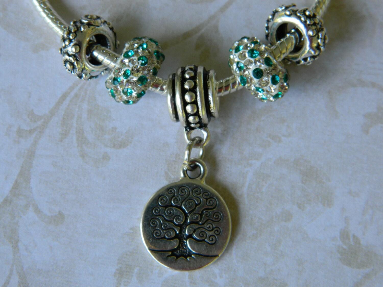 snakeskin add a bead charm bracelet rhinestone european
