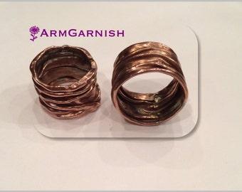 Foldformed copper ring.