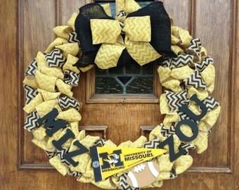 Mizzou Wreath
