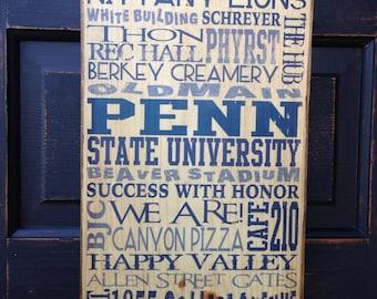 College Dorm Decor We Are Penn State Decor Pennsylvania Wall