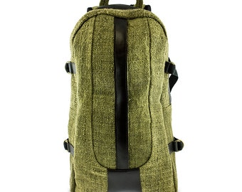 Hemp backpack Natural Green