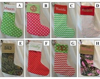Monogrammed Christmas Stockings