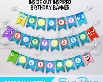 Personalized - Inside Out (Inspired) Birthday Banner