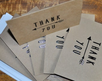 Set of Six Thank You Cards