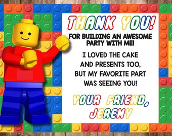 Lego Thank You Card