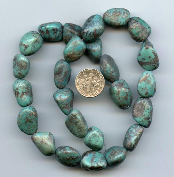 turquoise nugget gemstone 16 strand by laurelynntx