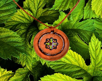 Aromatherapy pendant essential oil perfume necklace Terracotta Clay fragrance diffuser #G16
