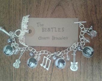 The Beatles inspired cameo charm bracelet