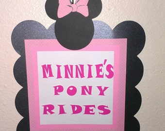 Minnie Party Sign Personalized