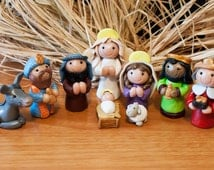 Polymer Clay Figure Christmas Nativity Set Made to Order Holiday Keepsake