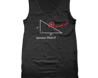 Find X Found It Funny Geek Math Nerd Humor Tank Top CL0162