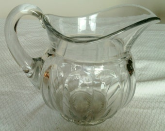 Clear Glass Water Pitcher by The Heisey Glass Company