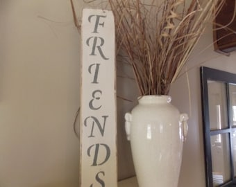 "Distressed Wooden ""FRIENDS"" Sign"