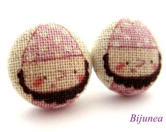 Dwarf earrings - Dwarf Snow White stud earrings - Bear studs - Dwarf posts - Dwarf post earrings sf940