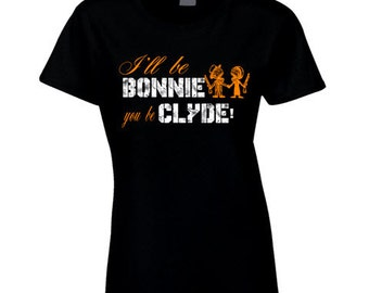 Bonnie And Clyde T Shirt Bonnie and Clyde Tee shirt Ladies Bonnie & Clyde shirt