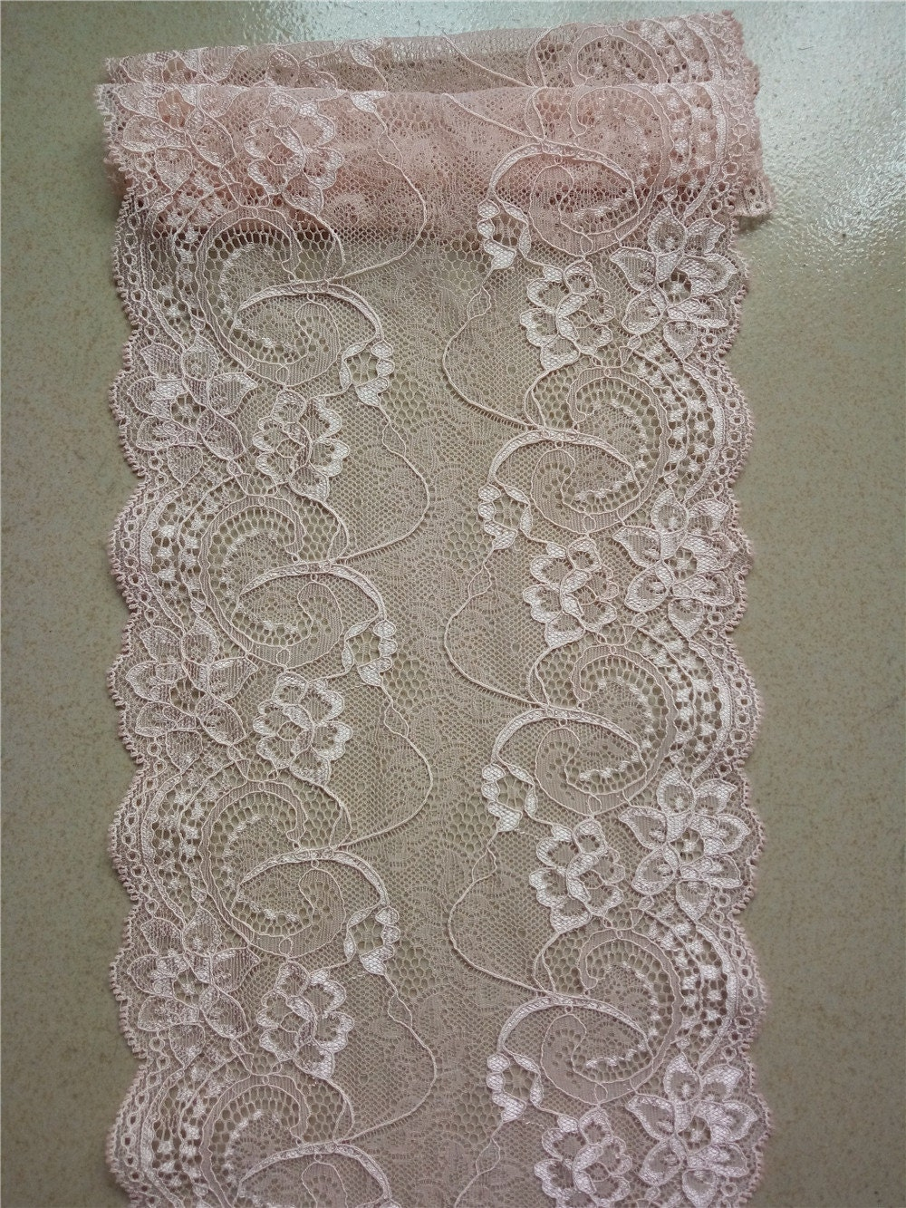 Blush Pink Lace Runner 7 Wedding Table Runner Lace