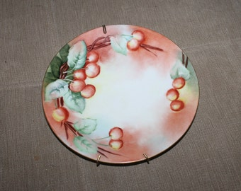 Antique Limoges Hand Painted Decorative Plate, B & Co. Bernardaud and Co.,1900-1914,Limoges France, Signed by Artist, Sue Vesta Hanna NICE