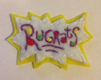 Rugrats logo 90's embroidered patch - Made to order