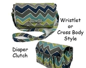 Diaper Clutch  Sewing Pattern PDF, Nappy Wallet, Crosbody Pouch, Diaper Wristlet
