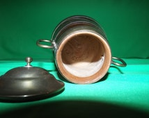 Vintage Wood and Brass Tankard