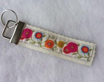 Key Fob - FLOWERS - Springtime