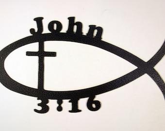 Christian Wall Art - John 3:16 - Bible Verse - Spiritual Gifts