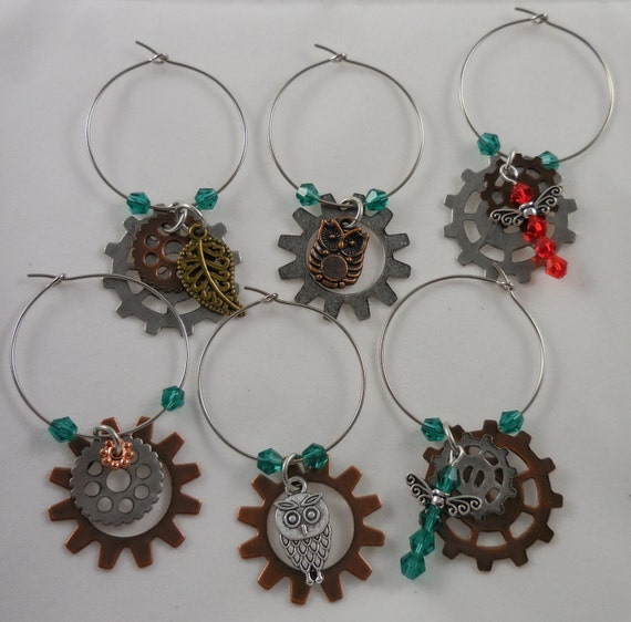 Steampunk Wine Charms