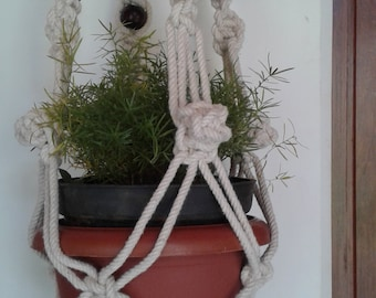 Free shipping -  macrame hanging planter / plant / pot holder/ bird feeder/ plant hanger indoor / outdoor,rope plant hanger,natural planter