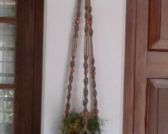 "52""Macrame hanging planter / plant /pot holder/  indoor /outdoor/birdfeeder/natural jute plant hanger,rope plant hanger"