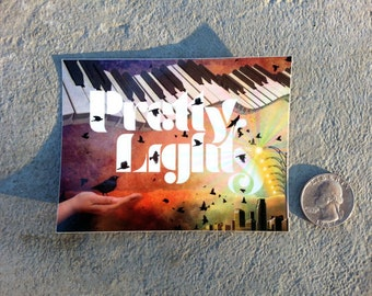 2 Pretty Lights stickers ~ Fly Away Another Day ~ 3x4 Vinyl