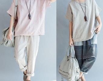 women loose cotton top/women lcotton skirt/BJQZSKIRT001