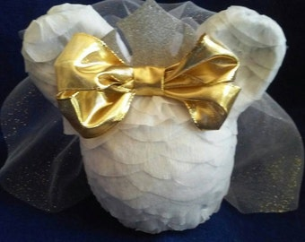 Minnie Bride Pinata for bachelorette party, bride shower, engagement party or wedding party