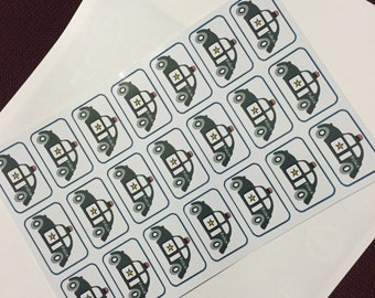 Police car stickers -2