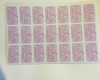 THINK PINK plexus stickers