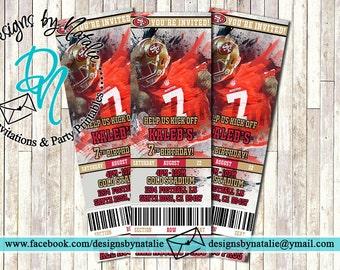 San Francisco 49ers Invitation