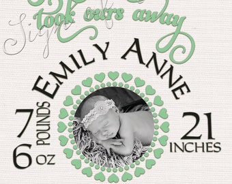 Baby SVG, Frame, Birth Certificate, Baby Gift, Baby Shower, Shower Gift, Baby Picture Frame, SVG, png, DFX, Silhouette Cameo, Cricut