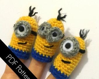 Minion-Inspired Finger Puppets - PDF WRITTEN PATTERN